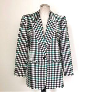 Pendleton Blazer Green and Black Gingham Size L